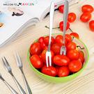 創意環保不銹鋼甜點水果叉子餐具