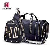 哈朗健身包男訓練包行李包手提旅行包大容量男士桶包單肩圓筒包女 智能生活館