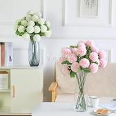 仿真繡球花干花擺件客廳家居落地裝飾蒲公英假花絹花辦公室 快速出貨