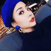 ▇性感東京▇ 歐美風春夏金屬圓環氣質夜店耳釘耳飾耳環 qf635【黑色妹妹】