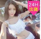 泳衣泳裝比基尼 韓版二件式 白色  黑色荷葉蕾絲保守 顯瘦  鋼圈 比基尼泳衣【23a】