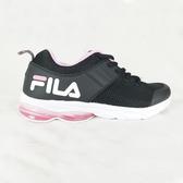 FILA 女款黑粉輕量慢跑鞋-NO.5J905T051