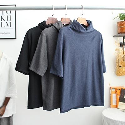 韓版亞麻針織衫 高領純色長袖打底毛衣/13色-夢想家-1116