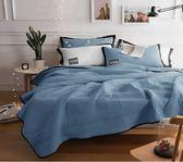 簡約水洗棉(5X6.2)床包+涼被(6X7)