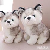 毛絨玩具 兒童禮物仿真哈士奇公仔抱枕狗狗玩偶小號娃娃禮品 df2352【極致男人】
