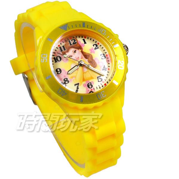 Disney 迪士尼 美女與野獸 貝兒 公主 卡通手錶 兒童手錶 防水手錶 DT貝兒黃