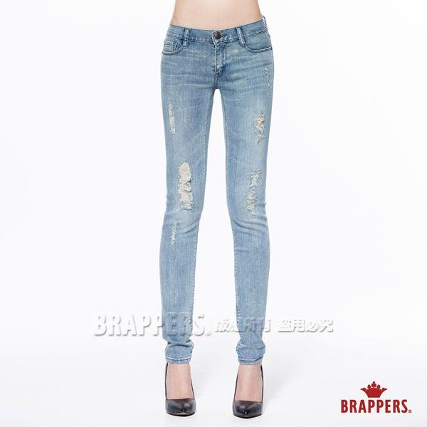BRAPPERS 女款 新美腳Royal系列-中低腰彈性窄管褲-藍