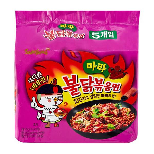 韓國 麻辣雞肉風味鐵板炒麵135gx5(袋裝)【小三美日】4倍辣