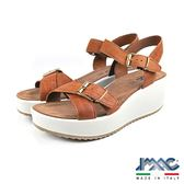 【IMAC】義大利真皮時尚厚底涼鞋  咖啡(72710-BR)
