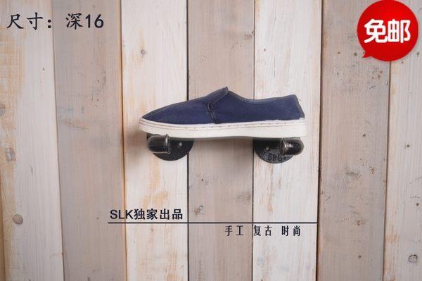 [超豐國際]墻上復古實木置物架隔板創意書架服裝店展示架壁掛鞋