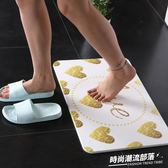 黑金硅藻泥腳墊廚房進門衛生間防滑墊硅藻土腳墊吸水速干浴室腳墊