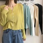 坑條 秋季2020新款韓版寬鬆顯瘦百搭坑條長袖防曬針織衫上衣女開衫薄款-米蘭街頭