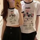 情侶裝 同色系情侶裝夏裝2020新款短款半袖上衣ins潮原宿風網紅短袖t恤女