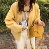 韓版針織衫女寬鬆百搭長袖慵懶風上衣網紅毛衣開衫V領小外套 1995生活雜貨
