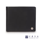 VOVA • 沃汎 - 布瑞克系列5卡透明窗磚紋皮夾-黑色 VA110W001BK