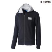 K-SWISS High Front Hoodie JKT連帽外套-男-黑