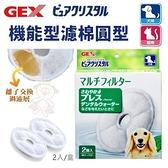 『寵喵樂旗艦店』日本GEX《犬貓共用機能型濾棉圓型》循環飲水器系列替換配件 犬貓適用