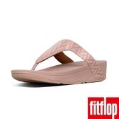 新降單一價!【FitFlop】LOTTIE CHEVRON-SUEDE TOE-THONGS(灰粉色)