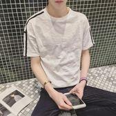 T恤 夏季體恤男士圓領潮修身韓版衣服 JD608 【3C環球數位館】