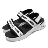 Puma 涼鞋 Sportie Sandal Wns 白 黑 厚底 魔鬼氈 女生涼拖鞋 女鞋【ACS】 381172-05