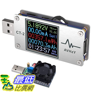[7美國直購] AVHzY USB Power Meter Tester Digital Multimeter USB Load Current Tester Voltage Detector
