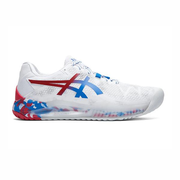 Asics Gel-resolution 8 L.e. [1041A111-100] 男鞋 運動 網球 舒適 情侶 白藍
