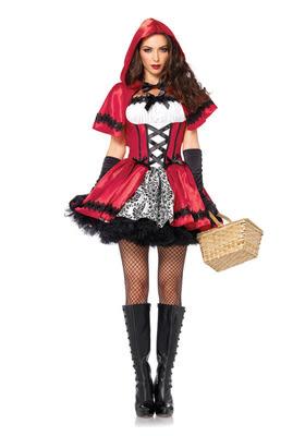 服裝成人女小紅帽表演服公主裙小紅帽衣服酒吧派對