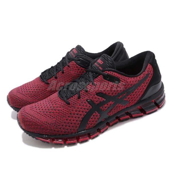 Asics 慢跑鞋 Gel-Quantum 360 Knit 2 紅 黑 針織鞋面 全腳掌亞瑟膠 男鞋【PUMP306】 T8G3N001