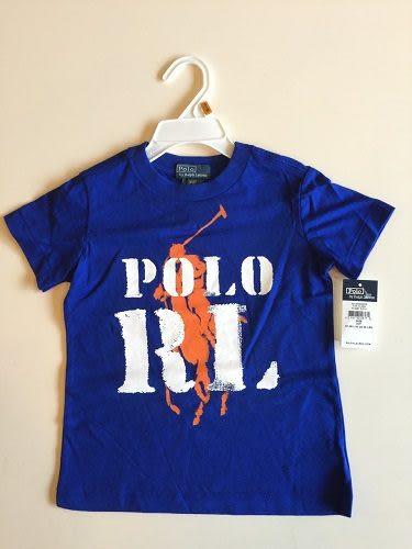 Ralph Lauren Polo短袖上衣 Polo Logo圖案深藍色設計款短袖T恤 3號 (Final sale)