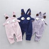 男嬰兒背帶褲春秋0-3--12個月女寶寶純棉