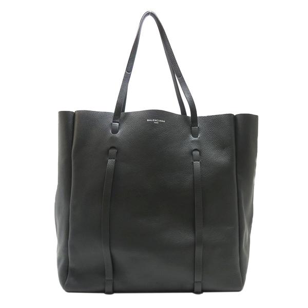 BALENCIAGA 巴黎世家 灰色牛皮藍色內裡肩背包 Everyday Tote Bag 475201【BRAND OFF】