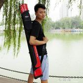 釣魚包魚竿包漁具包1.2/1.25米雙層台釣包硬殼竿包漁具釣魚包竿     檸檬衣舍