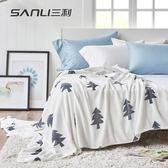 三利法蘭絨加厚毛毯冬季單人宿舍學生珊瑚絨毯子暖床單雙人午睡毯WY 促銷沖銷量