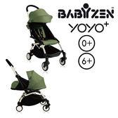 【第3代】法國 BABYZEN YOYO plus/YOYO+ 嬰兒手推車(6m+&新生兒套件) (白骨架) 綠色~麗兒采家