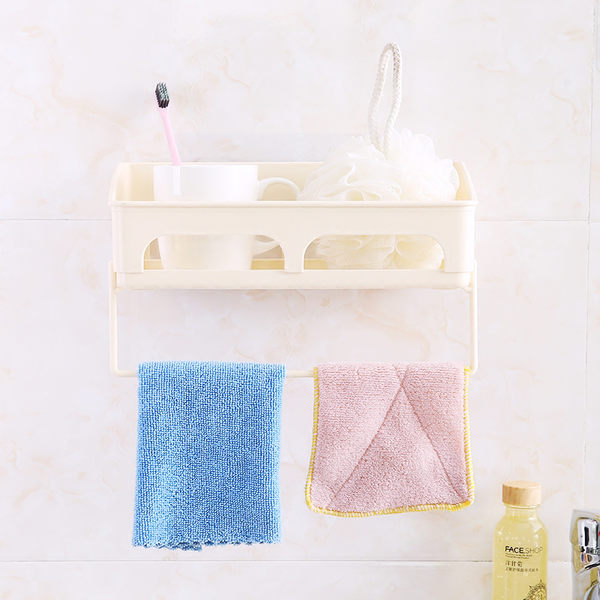 [限購價$55] 加大無痕壁貼毛巾置物架 毛巾架 (不挑色) HHB3609