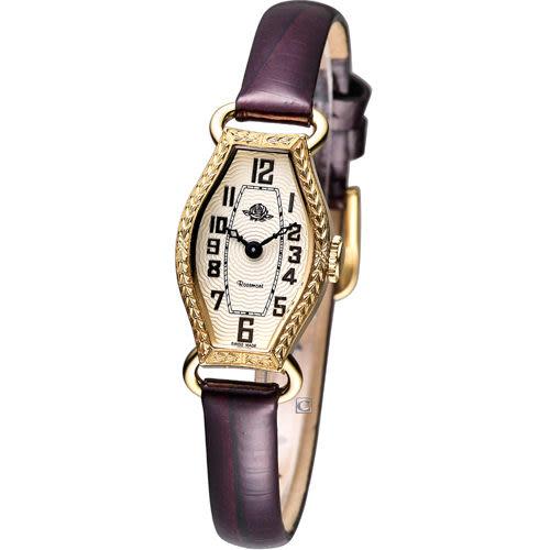 Rosemont 骨董風玫瑰系列腕錶RS-024-02-BR金色