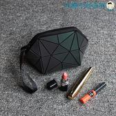 幾何菱格包化妝包立體零錢包手拿包【洛麗的雜貨鋪】