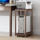 實木電腦主機托架多層落地底座托板托盤架子打印機臺式機箱置物架 設計師