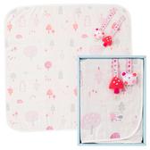 【奇哥】森林家族四層紗小蓋被禮盒-粉紅
