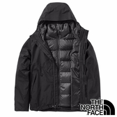 【THE NORTH FACE 美國】男 GORE-TEX二件式羽絨連帽外套『JK3 黑』NF0A3VSH 戶外 登山 保暖外套
