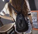 女生韓國潮雙肩可拉鏈單肩兩用背包DL11641『黑色妹妹』