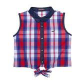 『小鱷魚童裝』格紋無袖襯衫(10號~16號)531151