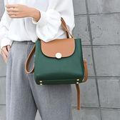 復古撞色小方包女百搭韓版時尚手提包簡約個性手提斜背包 檸檬衣捨