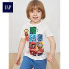 Gap男嬰幼童 Marvel復仇者聯盟系列純棉短袖T恤 459487-米白色