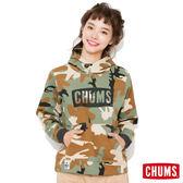 CHUMS 日本 女 INLAY LOGO 連帽刷毛套頭衫 迷彩 CH100523Z045