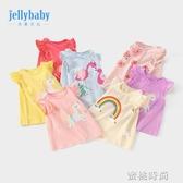 女童夏裝3歲嬰兒夏季上衣童裝洋氣夏薄小童兒童t恤女0一1寶寶短袖 『蜜桃時尚』