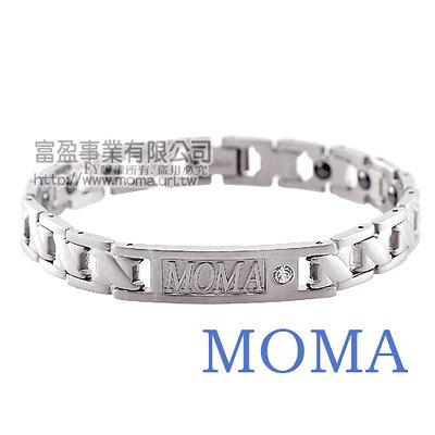 【MOMA】白鋼鍺磁手鍊-經典款窄版