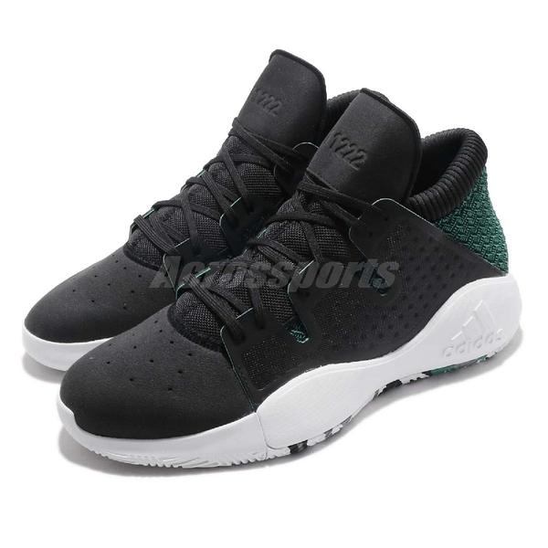 adidas 籃球鞋 Pro Vision 黑 綠 Bounce 緩震中底 男鞋 運動鞋【PUMP306】 D96946