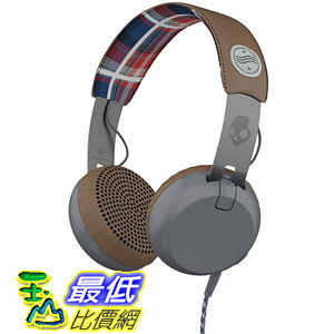 [104美國直購] Skullcandy Grind Americana Headphones, Plaid and Grey Multi S5GRHT-470