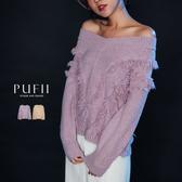 現貨◆PUFII-針織上衣 V領流蘇針織毛衣-1128 冬【CP17639】